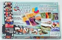 Encaustic Art Set 16 wax colour blocks, painting cards and instructions