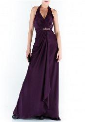Purple glamourous halter neck maxi dress