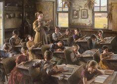 Morgan Weistling - Country Schoolhouse, 1879 (http://www.hiddenridgegallery.com/store/morgan-weistling/country-schoolhouse-1879.html)