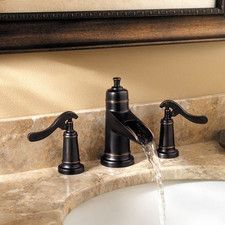 "Ashfield 2-Handle Waterfall 8"" Widespread Bathroom Faucet"