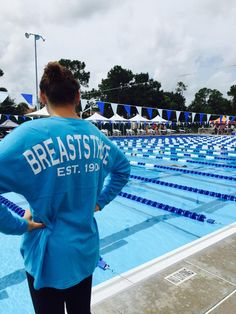 @MorganMinton First meet of the season!! @SwimWithIssues (SwimWithIssues Breaststroke Swim Jersey in Maui Blue)