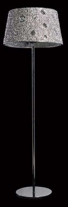 Acrylic Floor Lamp with Crystals House 2, Light Fittings, Floor Lamp, Crystals, Beautiful, Ideas, Home Decor, Light Fixtures, Decoration Home