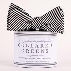 Collared Greens Signature Series Stripe Bow Tie