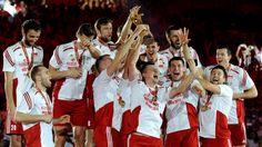 Polacy podczas dekoracji po meczu finałowym mistrzostw świata ...