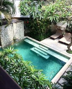 Best Swimming Pool Designs [Beautiful, Cool, and Modern] Gorgeous 47 Lovely Small Courtyard Garden Design Ideas For Home. Swimming pool design ideasGorgeous 47 Lovely Small Courtyard Garden Design Ideas For Home. Small Swimming Pools, Small Pools, Swimming Pool Designs, Amazing Swimming Pools, Lap Pools, Indoor Pools, Outdoor Swimming Pool, Small Backyard Design, Small Backyard Pools