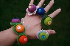 Felt Bead Pin Cushion Ring by beewisegoods on Etsy, $9.00