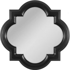 Lowe's Allen Roth 30-in x 30-in Black Shapes Framed Wall Mirror, $60, out of stock right now