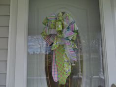 Handmade Butterfly Bow for Wreath Door Post by PatriciasFlorals