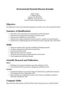 environmental science resume sle http www