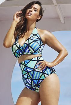 08ad28132ff58 Plus Size Bikinis - Swim Sexy Beach Glass Halter High Waist Bikini Bikini  Swimwear