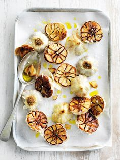Roasted garlic a lovely addition to a mezze plate or cheese board - Recipe.