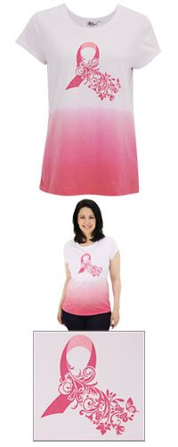 Pink Ribbon Gradient Tee at The Breast Cancer Site