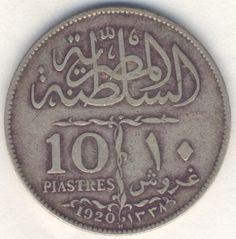 1920 Egypt silver 10 piastres