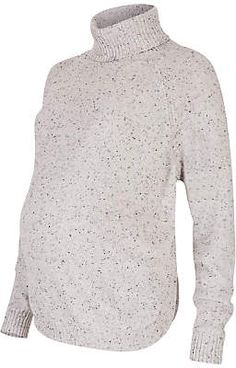 e9790709a73cb Séraphine Alma Speckled Cape Roll Neck Maternity Jumper at John Lewis &  Partners