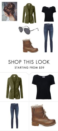 """""""dean's outfit ( girl style )"""" by kammie-winchester on Polyvore featuring LE3NO, Frame, AG Adriano Goldschmied and Steve Madden"""