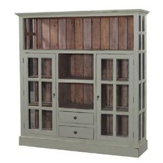 diy cabinets | Kitchen Cupboard Display Cabinet Bookcase Cabinet Distressed Mahogany ...