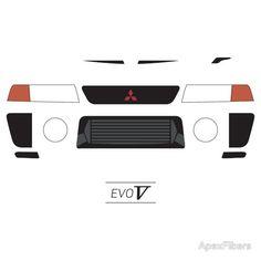 Mitsubishi Lancer Evolution 5 simple front end design