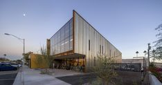 (Timmerman Photography). Bicycle Haüs's contemporary structural glass and corrugated steel ...