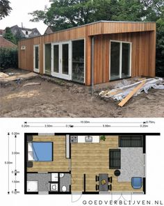 Cosy House, Tiny House Cabin, Tiny House Living, Container House Plans, Container House Design, Tiny House Design, Cottage Floor Plans, Dream House Plans, Small House Plans