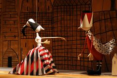 Pipo en Popi, Poppenspel uit Minsk. Stagedesign: Aleander Vakramejev. Director: Alex Leliavski.