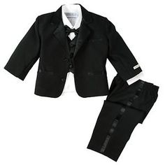 NWT-Spring-Notion-Baby-Boys-Classic-Fit-Tuxedo-Set-No-Tail-Modern-Fit-BLACK-XL