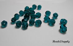 25 Blue Zircon Fire Polished Czech Glass Beads, 6mm Fire Polished Czech Round Beads, Jewelry Making, Jewelry Supplies, Craft Supplies by Beads2Supply on Etsy