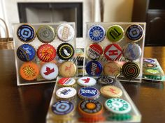 Beer Cap Coasters - Set of FOUR - The Crafty Wineaux