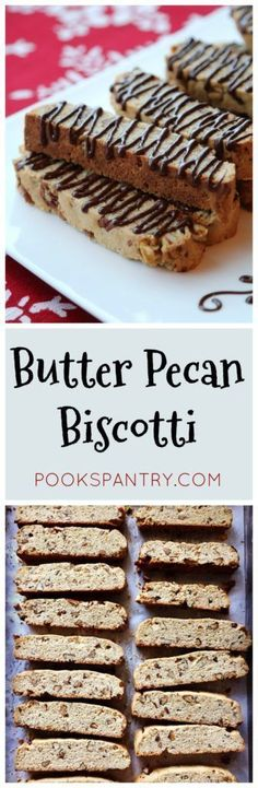 Butter Pecan Biscotti are perfect for holiday cookie exchanges and for sharing! Turn one of your favorite ice cream flavors into a biscotti for giving away as homemade gifts for friends this holiday season.