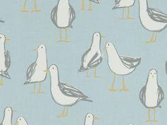 "Handmade Laridae Taupe Seagull Envelope Back Cushion Cover 17"" X 17"""