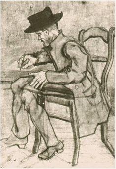 Vincent van Gogh: The Drawings (Man Writing: Facing Left, Etten: Vincent Van Gogh, Van Gogh Drawings, Van Gogh Paintings, Paul Gauguin, Alphonse Mucha, Rembrandt, Desenhos Van Gogh, Monet, Van Gogh Arte