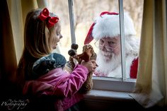 Peek a boo Santa! by LuAnn Hunt Photography