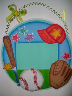 Portaretratos Colgante Beisbol Crafts To Do, Crafts For Kids, Cut Out Art, Kids Cuts, Sport Craft, Tole Painting, Book Binding, Drawing For Kids, Classroom Decor