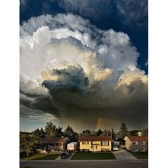 Pat Kavanagh took this shot of an explosive storm from the roof of his house in Taber, Canada, last month.