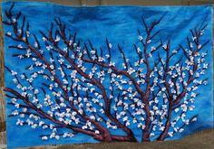 Tapiz Almendro Painting, Art, Poppies, Blue Nails, Scenery, Art Background, Painting Art, Kunst, Paintings