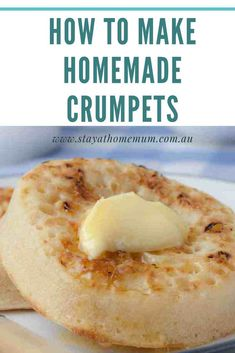 How to Make Homemade Crumpets. This homemade crumpet recipe was hand written inside Mum's recipe book - so I'm not sure who's it is! Welsh Recipes, Scottish Recipes, Crepes, Homemade Crumpets, Crumpet Recipe, Homemade English Muffins, Biscuits, British Baking, Pizza