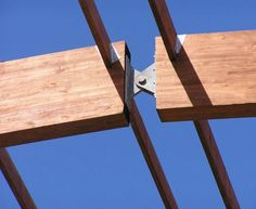 Discover thousands of images about joints in steel structure Wood Truss, Wood Joinery, Timber Structure, Shade Structure, Timber Architecture, Architecture Details, Joinery Details, Post And Beam, Wood Construction