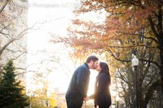Love the fall colors - Philly Engagement Session