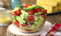 Cucumber Tomato Salad is the best of summers harvest. Crisp cucumbers and luscious tomatoes tossed in a bright and creamy lemon poppy seed dressing. This is my newest obsession. I could live on salad. Tomato Salad Recipes, Cucumber Tomato Salad, Onion Salad, Best Salad Recipes, Salad Dressing Recipes, Healthy Recipes, Cucumber Salad Dressing, Spinach Salad, Juice Recipes