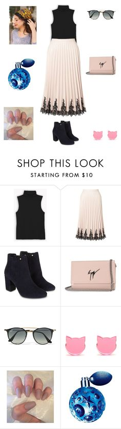 """""""Untitled #324"""" by jillianhurley ❤ liked on Polyvore featuring Miss Selfridge, Monsoon, Giuseppe Zanotti, Ray-Ban, Thierry Mugler and Sagit Tavor"""