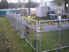Interesting fence or blockade idea out of PVC.
