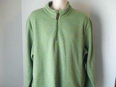 Bass Mens XL Green Fleece Sweat Shrit 100% Polyester #Bass #FleeceTops