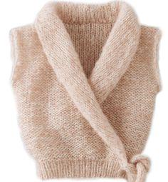 Modèle cache coeur effet poudré Catalogue Layette n°74 automne-hiver 2012