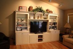 Home theaters hacks This Entertainment Center was finished approximately two months ago. Let Andrew Stahr Specialty Woodworking design an entertainment center . Entertainment Center Wall Unit, Entertainment Room, Diy Ikea Hacks, Built In Tv Cabinet, Cover Shoot, Home Theater Installation, Diy Bar Cart, Cabinet Plans, Cabinet Ideas