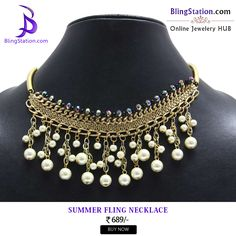 Pair this statement #necklace with your formals and look amazing even at work! #BlingStation #fashion #jewellery