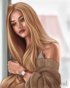 Cartoon Girl Images, Girl Cartoon Characters, Cute Cartoon Girl, Beautiful Girl Drawing, Cute Girl Drawing, Cartoon Girl Drawing, Digital Art Girl, Digital Portrait, Girly Drawings