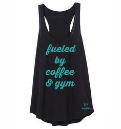 Coffee & gym - Aqua & Black – Love Fitness Apparel