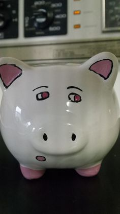 Items similar to Hand painted, unique, ceramic piggy bank, flower design, customizable. on Etsy Cute Paintings, Piggy Bank, Flower Designs, Hand Painted, Ceramics, Unique Jewelry, Handmade Gifts, Flowers, Etsy