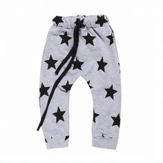 Baby /Baby Boy's Stars Cotton Pants/Bottoms in Gray