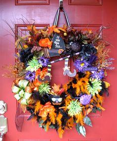 Happy Halloween Witches Brew Wreath, by IrishGirlsWreaths, $110.00