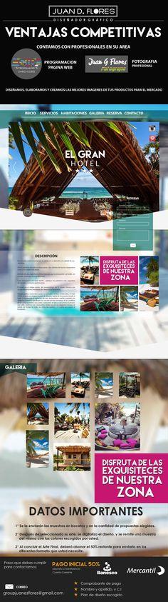 Modelo de pagina web Turisto Hotel de Playa.